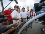 Louisiana Governor Bobby Jindal on a Vacuum Barge