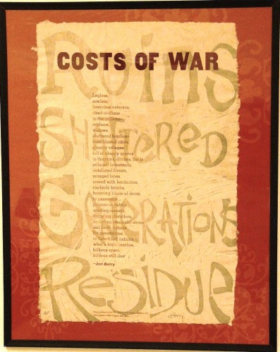 """Costs of War"" by Jan Barry"