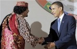Muammar Gaddafi and Barack Obama