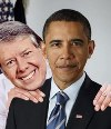 Former Presidents Jimmy Carter and Barack Obama