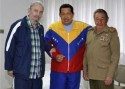 Chavez and Friends in Hospital in Cuba