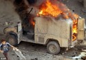 British Army Vehicle Hit by IED