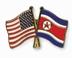 USA-DPRK Flags