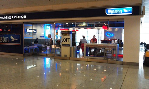 Munich Airport Smoking Zone